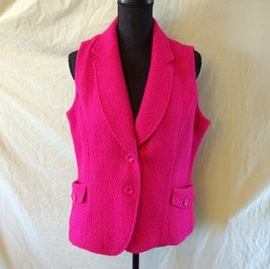 Coldwater Creek pink vest